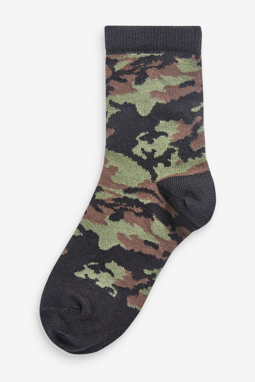 Next 7 Pack Camouflage Cotton Rich Socks (Older)