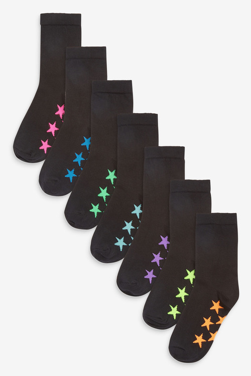 Next 7 Pack Cotton Rich Star Socks (Older)