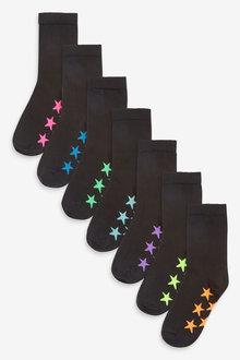 Next 7 Pack Cotton Rich Star Socks (Older) - 269029
