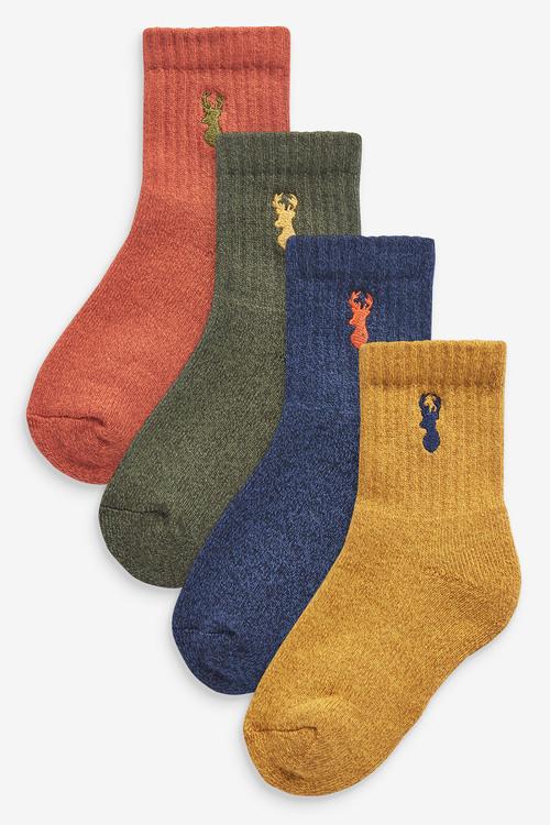 Next 7 Pack Cotton Rich Monster Socks (Older)