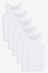 Next 5 Pack GOTS Organic Vests (1.5-16yrs)
