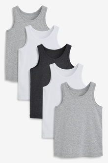 Next 5 Pack Organic Vests (1.5-16yrs) - 269056