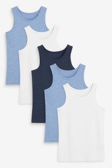 Next 5 Pack Organic Vests (1.5-16yrs) - 269057