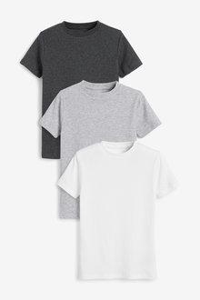 Next 3 Pack GOTS Organic Rib T-Shirts (1.5-16yrs) - 269059