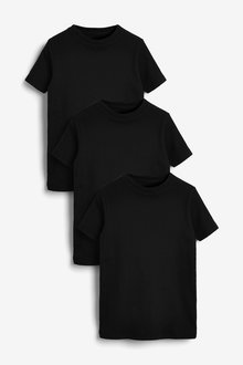 Next 3 Pack GOTS Organic Rib T-Shirts (1.5-16yrs) - 269060