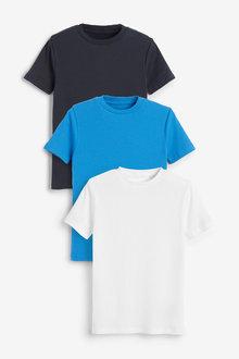Next 3 Pack GOTS Organic Rib T-Shirts (1.5-16yrs) - 269062