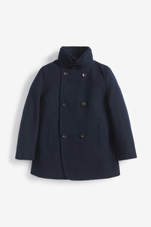 Next Premium Double Breasted Wool Rich Coat (3-16yrs) - 269095