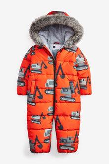 Next Digger Print Snowsuit (3mths-7yrs) - 269111