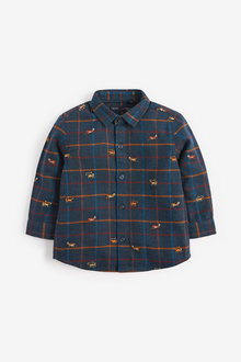 Next Check Embroidered Long Sleeve Shirt (3mths-7yrs) - 269194
