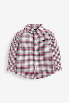 Next Long Sleeve Organic Check Oxford Shirt (3mths-7yrs) - 269209