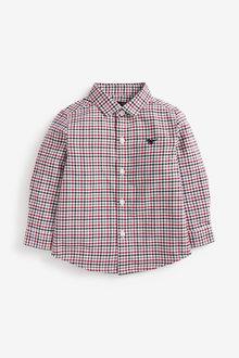 Next Long Sleeve Organic Check Oxford Shirt (3mths-7yrs) - 269209