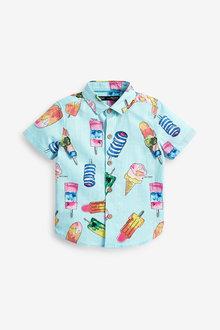 Next Short Sleeve Ice Cream Print Shirt (3mths-7yrs) - 269213