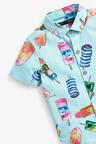 Next Short Sleeve Ice Cream Print Shirt (3mths-7yrs)