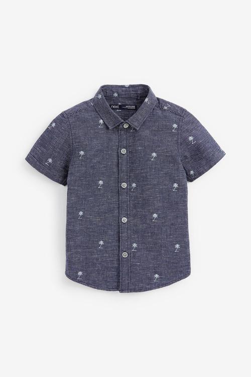 Next Short Sleeve Palm Tree Print Shirt (3mths-7yrs)