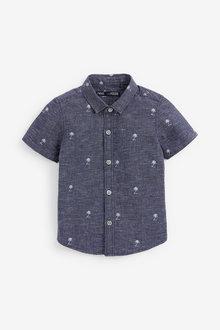 Next Short Sleeve Palm Tree Print Shirt (3mths-7yrs) - 269214