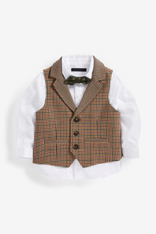 Next Heritage Waistcoat, Shirt And Bow Tie Set (3mths-7yrs) - 269220