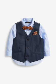 Next Double Breasted Waistcoat And Shirt Set (3mths-7yrs) - 269222