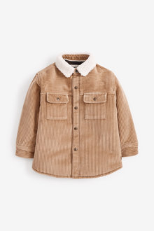 Next Long Sleeve Borg Lined Cord Shacket (3mths-7yrs) - 269225