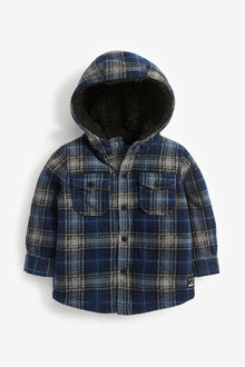 Next Check Fleece Hooded Shacket (3mths-7yrs) - 269229