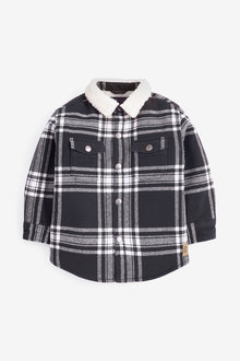 Next Check Long Sleeve Borg Lined Shacket (3mths-7yrs) - 269233