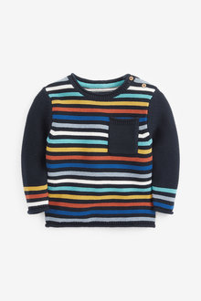 Next Rainbow Stripe Knitted Jumper (3mths-7yrs) - 269252
