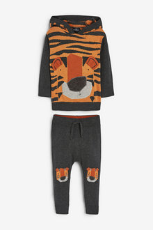 Next Knitted Tiger Hoody And Jogger Set (3mths-7yrs) - 269265