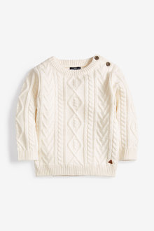 Next Cable Knit Crew Jumper (3mths-7yrs) - 269266