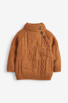 Next High Neck Cable Pattern Jumper (3mths-7yrs) - 269280