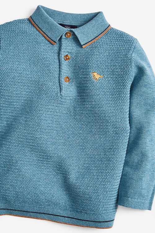 Next Textured Knitted Polo (3mths-7yrs)