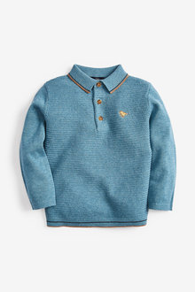 Next Textured Knitted Polo (3mths-7yrs) - 269294