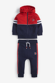 Next Colourblock Zip Through And Joggers Set (3mths-7yrs) - 269314