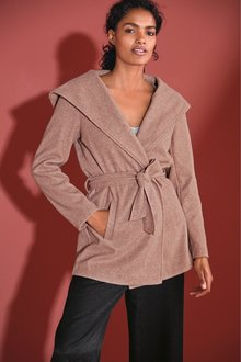 Next Belted Hooded Coat - 269325