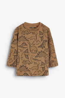 Next Long Sleeve Dino Printed T-Shirt (3mths-7yrs) - 269330