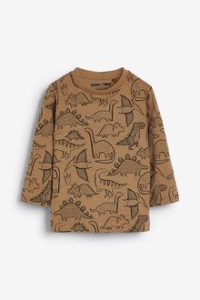 Next Long Sleeve Dino Printed T-Shirt (3mths-7yrs) - 269330