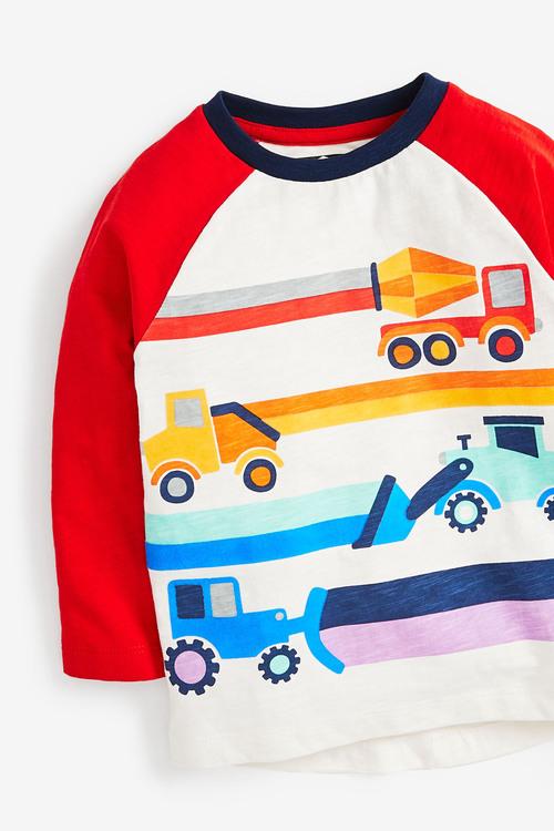 Next Long Sleeve Raglan Transport T-Shirt (3mths-7yrs)