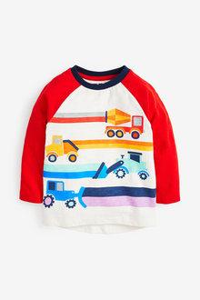 Next Long Sleeve Raglan Transport T-Shirt (3mths-7yrs) - 269334