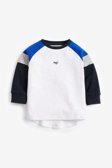Next Long Sleeve Sueded Soft Jersey Colourblock T-Shirt (3mths-7yrs) - 269336
