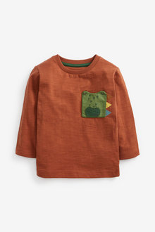 Next Crocodile Pocket Long Sleeve T-Shirt (3mths-7yrs) - 269337