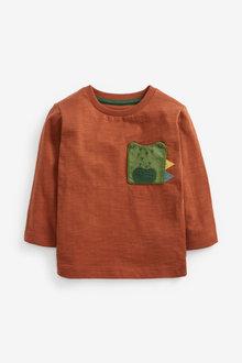 Next Crocodile Pocket Long Sleeve T-Shirt (3mths-7yrs) - 269337