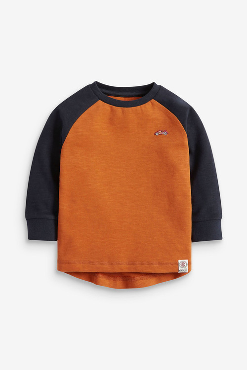 Next Long Sleeve Cosy Colourblock T-Shirt (3mths-7yrs)