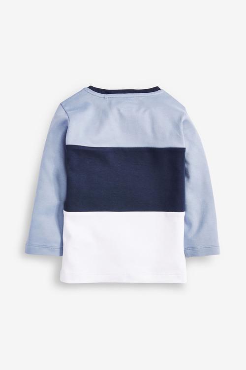 Next Long Sleeve Jersey Colourblock T-Shirt (3mths-7yrs)