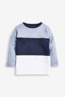 Next Long Sleeve Jersey Colourblock T-Shirt (3mths-7yrs) - 269348