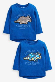 Next Long Sleeve Dino Flippy Sequin T-Shirt (9mths-7yrs) - 269349