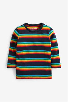 Next Long Sleeve Rainbow Stripe T-Shirt (3mths-7yrs) - 269351