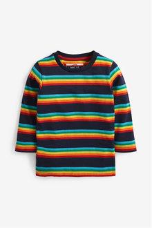 Next Long Sleeve Rainbow Stripe T-Shirt (3mths-7yrs) - 269351