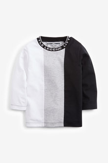 Next Long Sleeve Colourblock T-Shirt (3mths-7yrs) - 269358