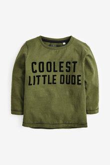 Next Long Sleeve Jersey Flock Print T Shirt (3mths-7yrs) - 269372