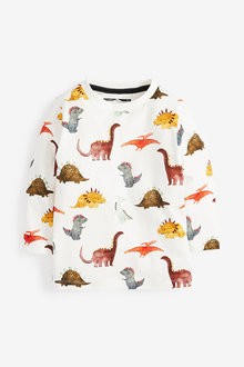 Next Long Sleeve Dino Print T-Shirt (3mths-7yrs) - 269381