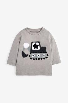 Next Long Sleeve Crochet Digger Jersey T-Shirt (3mths-7yrs) - 269393