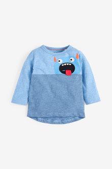 Next Long Sleeve Jersey Monster Pocket T-Shirt (3mths-7yrs) - 269394